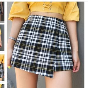 Pants - plaid skort